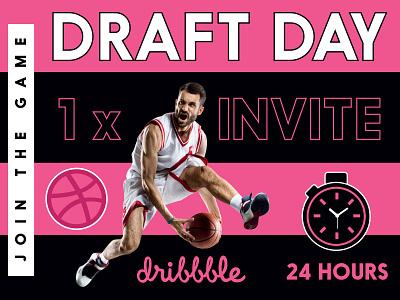 Dribbble Invitation Draft Day Invite 24 Hours Only join 24 hours invitation day draft draft day dribbble invite