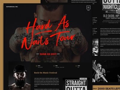 Events Single Page - Dark Theme Style agency branding minimal landing page corporate flat design website production events ux ui