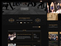 Events Listings Page - Events Company Web Design