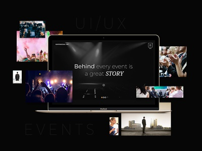 Events & Productions Modern Full Website Design - UI - UX Dark luxury modern minimal flat corporate dark events ux ui website