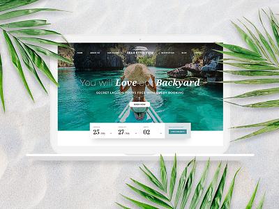 Luxury Tropical Resort Hotel Website & Branding Identity website ux branding flat holiday modern clean resort luxury tropical