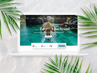 Luxury Tropical Resort Hotel Website & Branding Identity