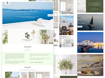 Greece Luxury Resort Website Design For Nastasia Village website ui minimal modern accommodation olive naxos luxury hotel resort greece