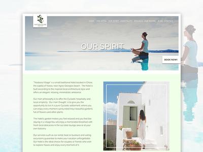 Nastasia Village Hotel Greece - Our Spirit Website Design travel ui flat modern minimal elegant website webpage greece hotel