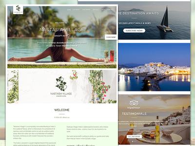 Greece Luxury Resort Website Design For Nastasia Village Hotel website holiday app ui booking accommodation greek resort hotel luxury greece