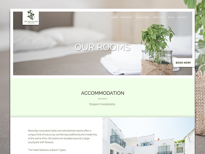 Nastasia Village Hotel Greece Our Rooms Website Design By Bradley Lancaster    Dribbble Part 39