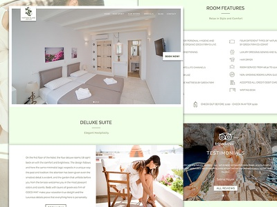 Nastasia Village Hotel Greece Room Details Website Design website holiday app ui booking accommodation greek resort hotel luxury greece