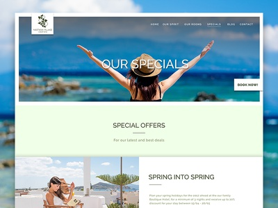 Greece Hotel Specials Page Website Design For Nastasia Village mediterranean website holiday app ui booking accommodation greek resort hotel luxury greece
