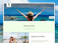 Greece Hotel Specials Page Website Design For Nastasia Village