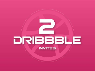 Dribbble Invites X 2 web design ux ui competition dribbble invitation invites invite