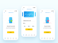 Mobile payment screens