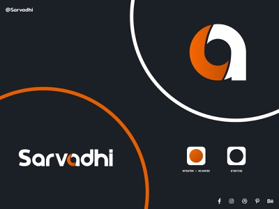 Sarvadhi Solutions Private Limited - The Logo ui ux branding icon vector design illustration typography app logo in-house designers