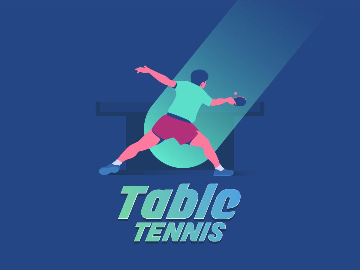 Table tennis sports poster theme illustration sports tabletennis
