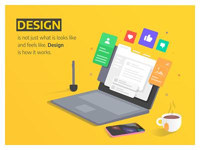 Poster Design facebook design design quote steve jobs pop art product mockup product design branding illustration art vector design illustration posters poster poster design