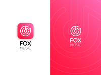 Fox Music App icon concept