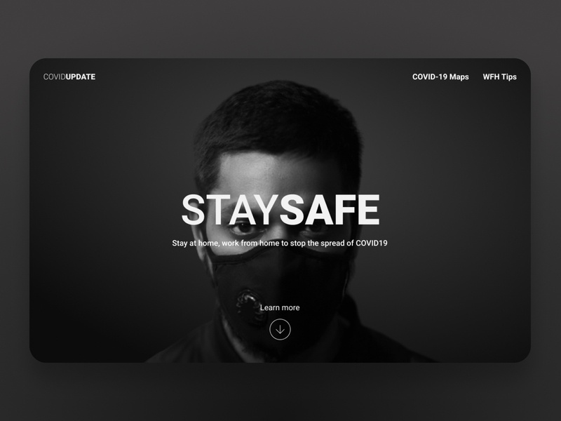 Stay Safe stayhome web ui ux
