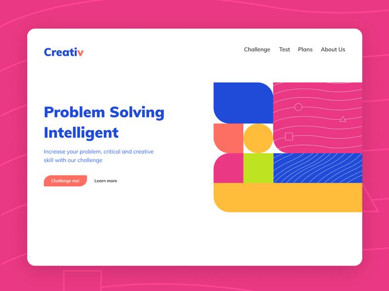 Thinking Challenge Website creative web design ux ui