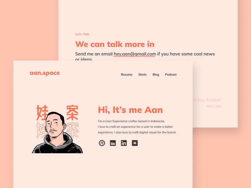 Portfolio Website web typography ui illustration branding