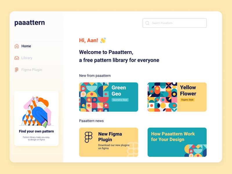 Paaattern Library Dashboard app web design branding ux ui