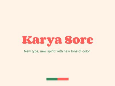 Karya Sore Type illustration icon typography branding