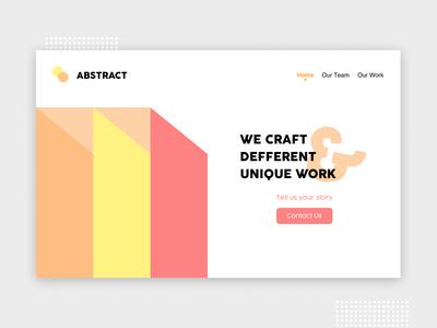 Absract Web About Us about us landing page web design web ux ui