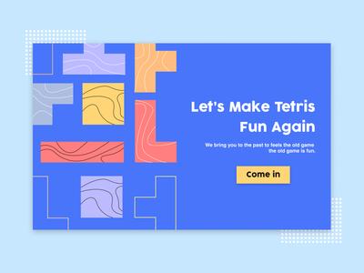 Tetris Landing Page tetris games web design branding ui