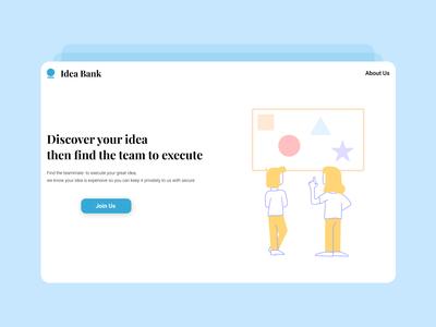 Idea Bank Landing Page