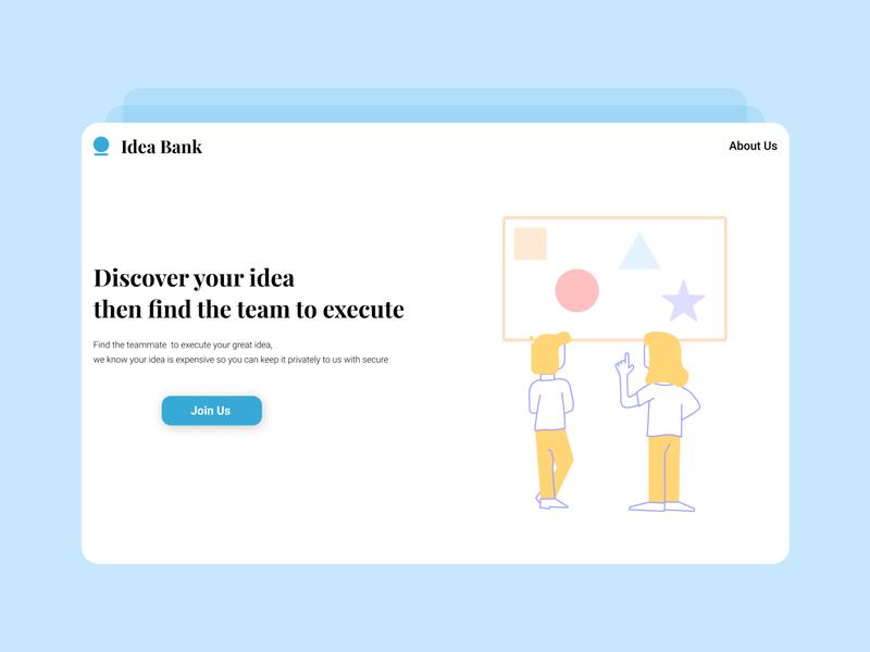 Idea Bank Landing Page idea landingpage webdesign illustration ux ui