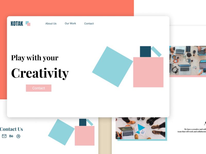 Kotak Web agency creative web branding ui ux