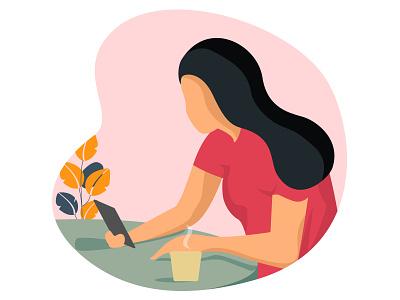 Using Mobile design illustratration flatcolors illustration