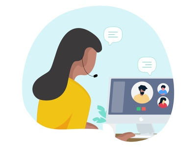 Video Chat onlinemeeting videochat flatcolors design working illustratration illustration