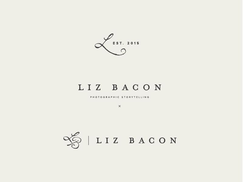 Liz Bacon redesign design photography branding photography logo branding