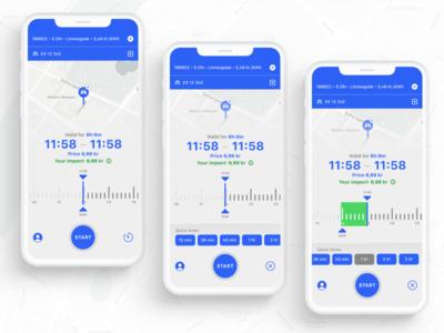 """""""Quick Time's"""" ImpactPark exploration modern identity danish visual design uxui parking ios app design ios ux ui design ghanavati"""