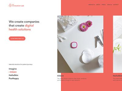 Leo Innovation Lab - Exploration B ux ui identity scandinavian modern danish ghanavati exploration typography front page landing page uxui web design design corporate branding