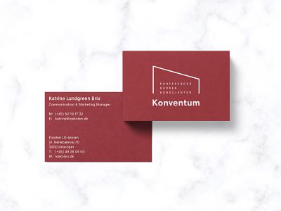 Konventum - Identity system stationery minimalist logo minimal business card corporate design branding logo typography scandinavian modern identity ghanavati danish