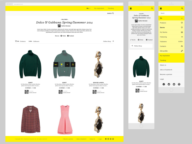 Styletorch - partner page minimal app web design uxui landing page exploration ux ui corporate branding typography ghanavati design scandinavian modern identity danish
