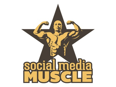 Social Media Muscle Logo