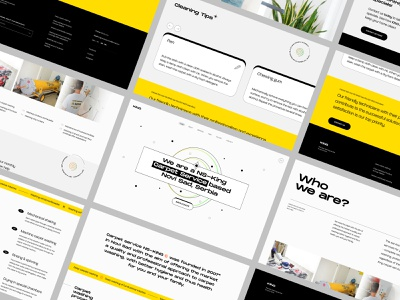 Website Layout Retrospective typography colorful concept ui web designer web design landing page layout web