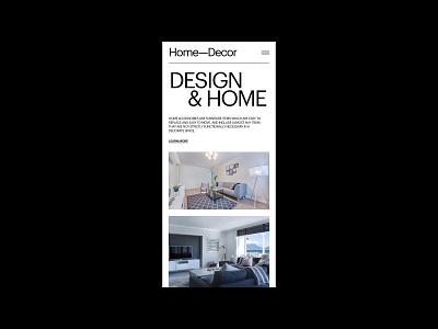 Interior Minimalistic Layout interior design website imagery landing daily ui card typo branding landing page homepage web design typography interface minimalistic minimal layout