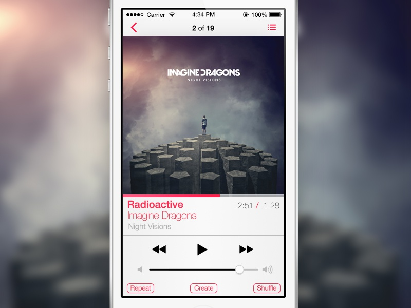 Ios7 player dribbble