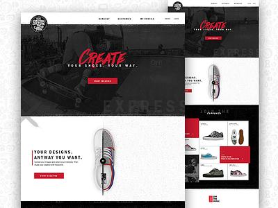 Vans Concept grunge off the wall shoes concept design web vans