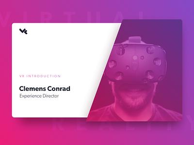 Vectorform VR Slide detroit ux meetup ar augmented reality virtual reality deck presentation slide htc vive vr vectorform