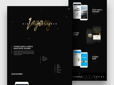 New Portfolio Site semplice legacy ui designer digital design website portfolio