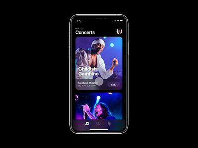Concert App Concept concert animation concept app ui