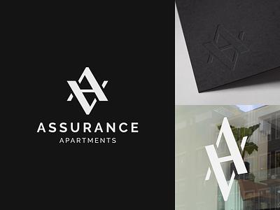 Assurance Apartments - Monogram Logo Design & Branding graphic design elegant luxury identity brand brand identity branding aa logo aa monogram monogram logo monogram design logo logo design
