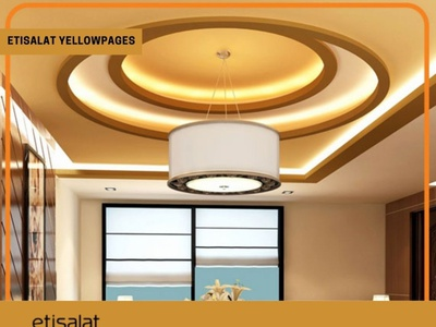 List Of False ceiling works In UAE On yellowpages.ae branding