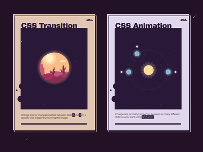 Astral CSS Transition and Animation Poster illustration sun earth moon astral css transition css animation css poster