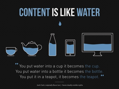 Content Is Like Water - final illustration download content water mobile content