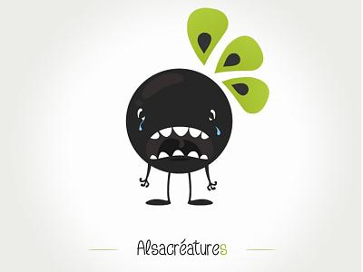 Alsacréature sad illustration sad
