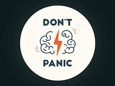 Don't Panic Sticker panic flash brain sticker dontpanic